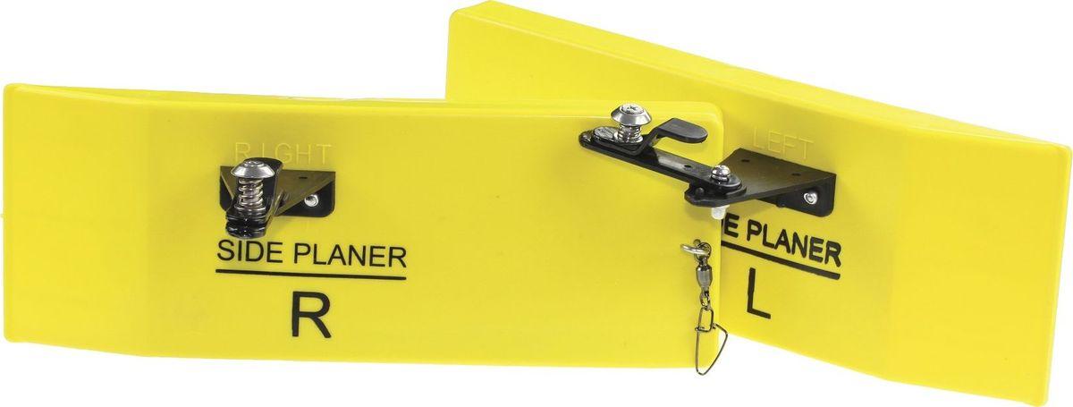 Планер Blind Sideplaner, левый, цвет: желтый. BLD-12027BLD-12027Левый мини-планер Blind Sideplaner - прибор, который выдерживает даже крупные воблеры. Рыболовная снасть окрашена прочной водостойкой и ударопрочной эмалью. Планер изготовлен из ударопрочного материала и отводит приманку от лодки на 5-10 метров, что позволяет использовать большее количество снастей и существенно расширить зону ловли.Верхняя граница теста спиннинга должна быть не менее 50-60 граммов.