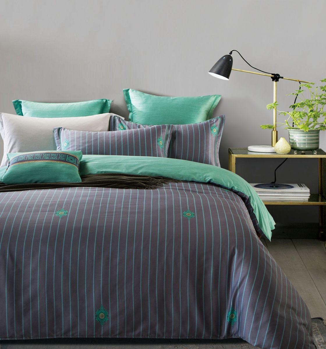 Комплект белья Estro Alberto, евро, наволочки 50х70, 70х70YGC3191ABP-КПБ_ALBERTO_ЕвроКомплект белья Estro выполнен из мако-сатина. Мако-сатин - ткань сатинового переплетения, произведенная из высококачественного египетского хлопка. Для пошива домашнего текстиля - это идеальная ткань, не даром египетский хлопок является самым любимым материалом многих дизайнеров. Ткань из египетского хлопка отличается особенным матовым отблеском, который не исчезает даже после многократных стирок, кроме этого она невероятно мягкая, и эта мягкость только усиливается после каждой стирки. Изделия из такой ткани не теряют внешний вид даже после многих лет эксплуатации.В комплект входят: пододеяльник на молнии, простыня, наволочки 50 х 70 см - 2 шт, наволочки 70 х 70 см - 2 шт на молнии. Комплект в дизайнерской элегантной, презентабельной упаковке идеален в качестве подарка.