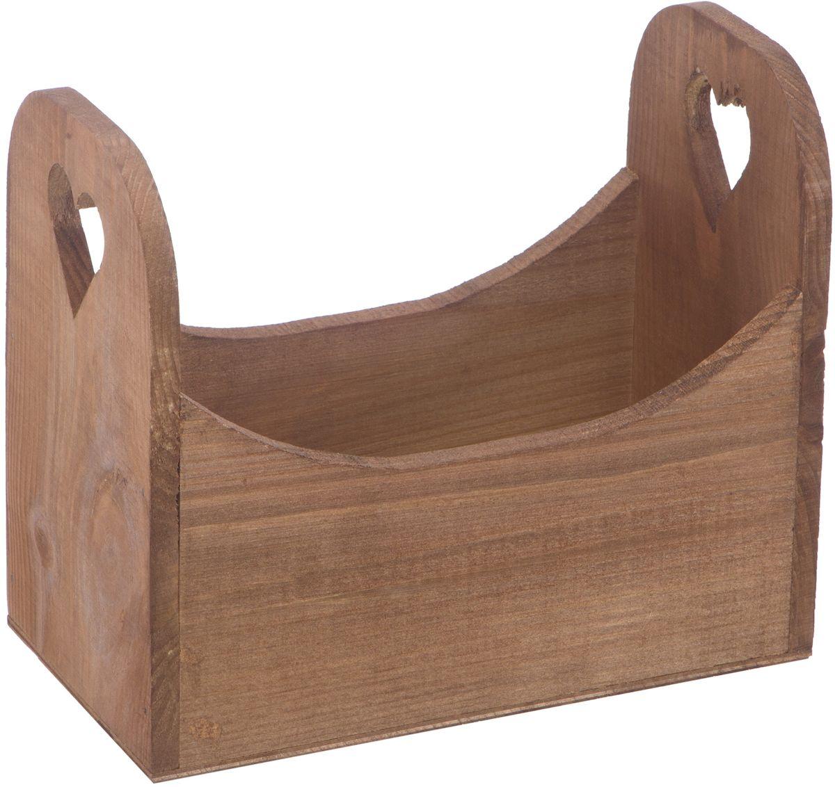 Кашпо Engard Аоста, 24 х 13 х 20 смAK-08Кашпо деревянное с ручкой Аоста - это стильный и необычный элемент для декора дома и сада. Выполненное в деревенском стиле, кашпо понравится поклонникам экологичности и натуральности в интерьере.