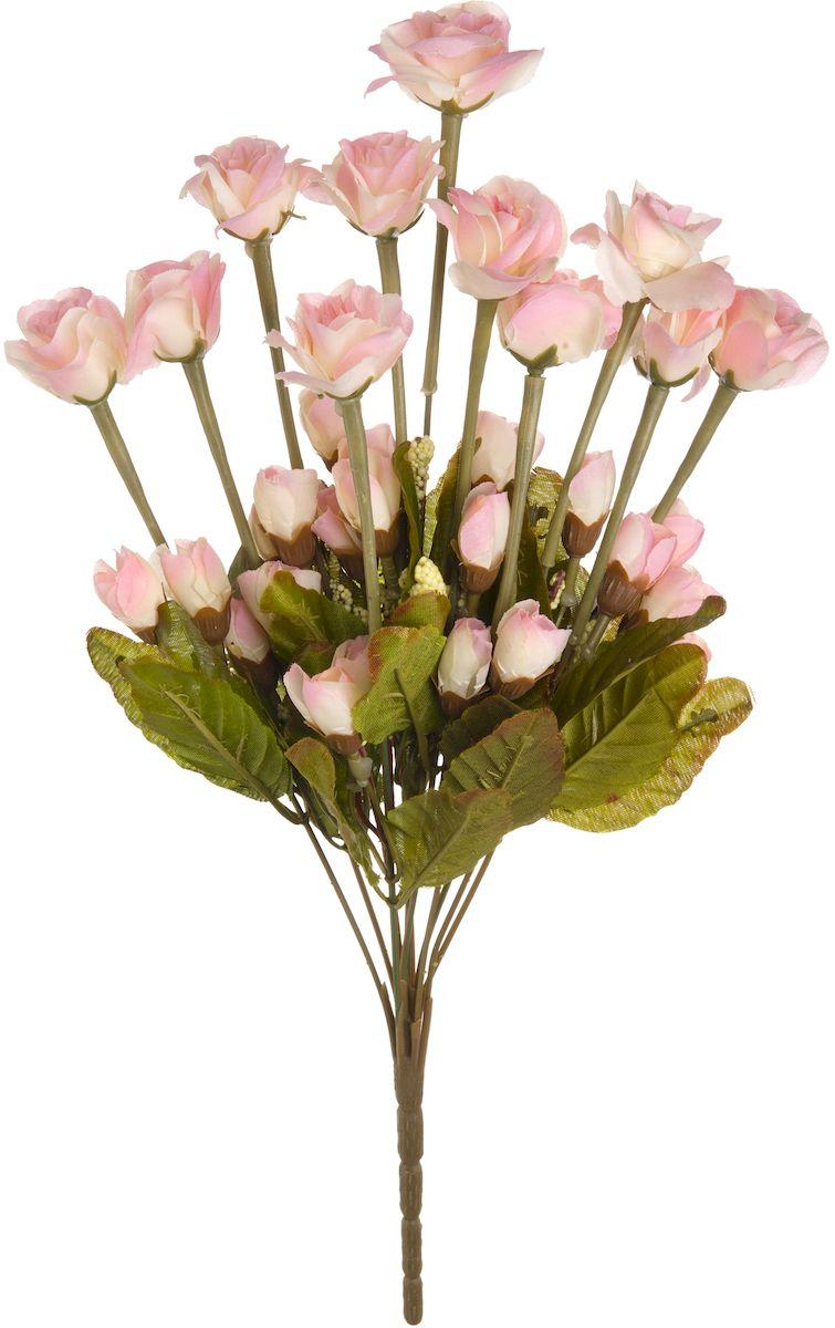 """Искусственные цветы """"Engard"""" - это популярное дизайнерское решение для создания природного колорита и индивидуальности в интерьере. Кустовые розы выглядят довольно реалистично, нежно и являются достойной альтернативой натуральным цветам. Розы имеют идеально собранную форму.  Не требует постоянного ухода. Высота: 42 см."""