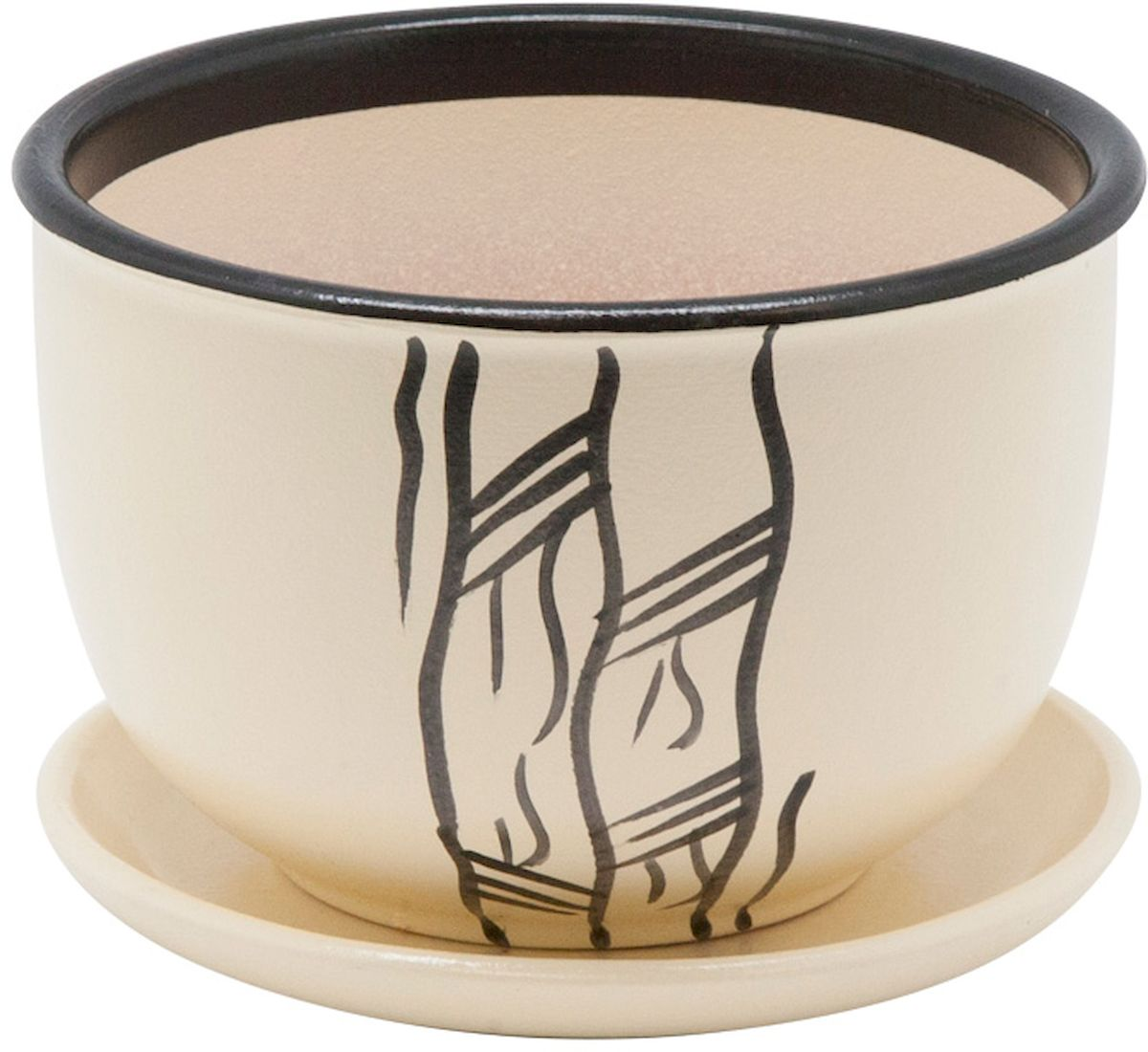 Горшок цветочный Engard, с поддоном, цвет: бежевый, 1,05 л. BH-17-4BH-17-4Керамический горшок Engard - это идеальное решение для выращивания комнатных растений и создания изысканности в интерьере. Керамический горшок сделан из высококачественной глины в классической форме и оригинальном дизайне.Объем: 1,05 л.