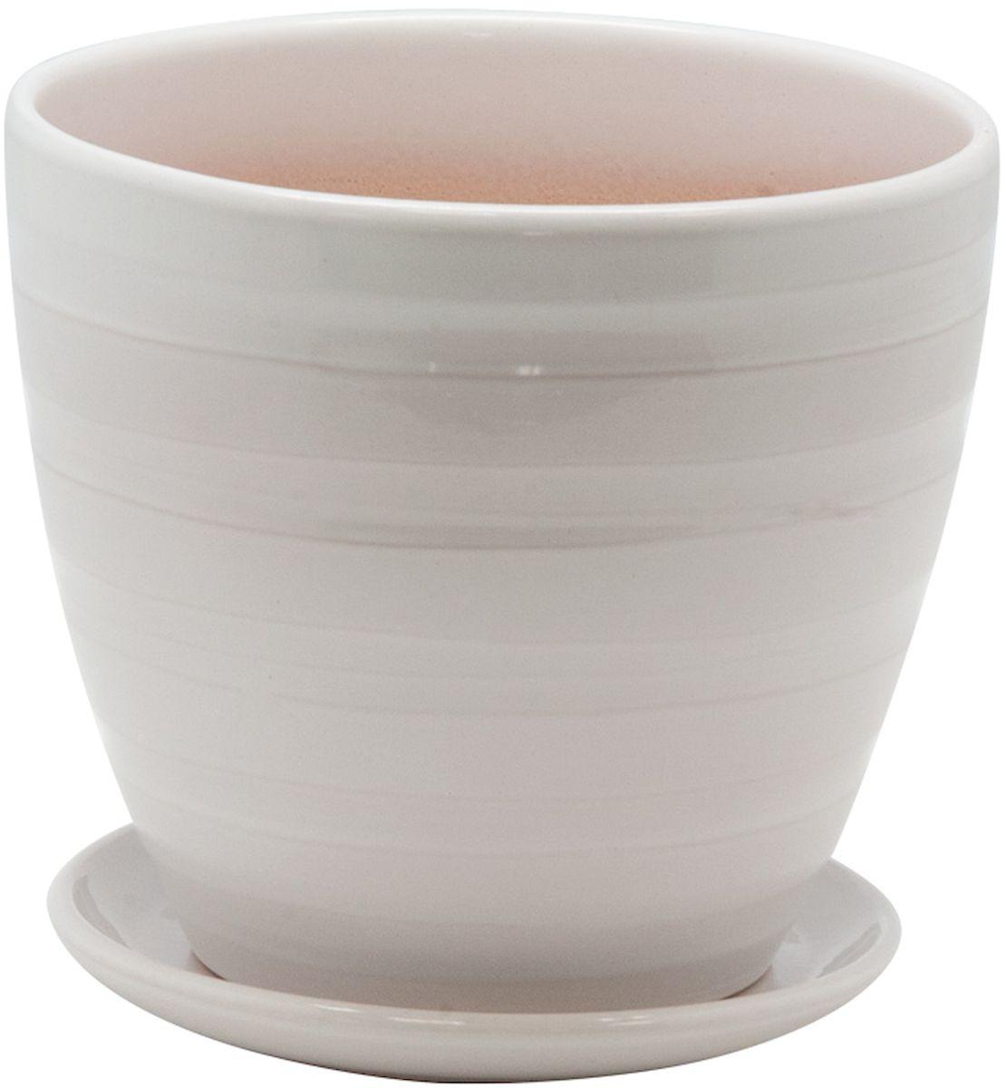 Горшок цветочный Engard, с поддоном, цвет: белый, 1,4 лBH-20-1Керамический горшок Engard - это идеальное решение для выращивания комнатных растений и создания изысканности в интерьере. Керамический горшок сделан из высококачественной глины в классической форме и оригинальном дизайне.Объем: 1,4 л.