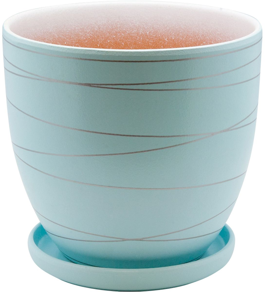 Горшок цветочный Engard, с поддоном, цвет: голубой, 0,5 лBH-24-8Керамический горшок Engard - это идеальное решение для выращивания комнатных растений и создания изысканности в интерьере. Керамический горшок сделан из высококачественной глины в классической форме и оригинальном дизайне.Объем: 0,5 л.