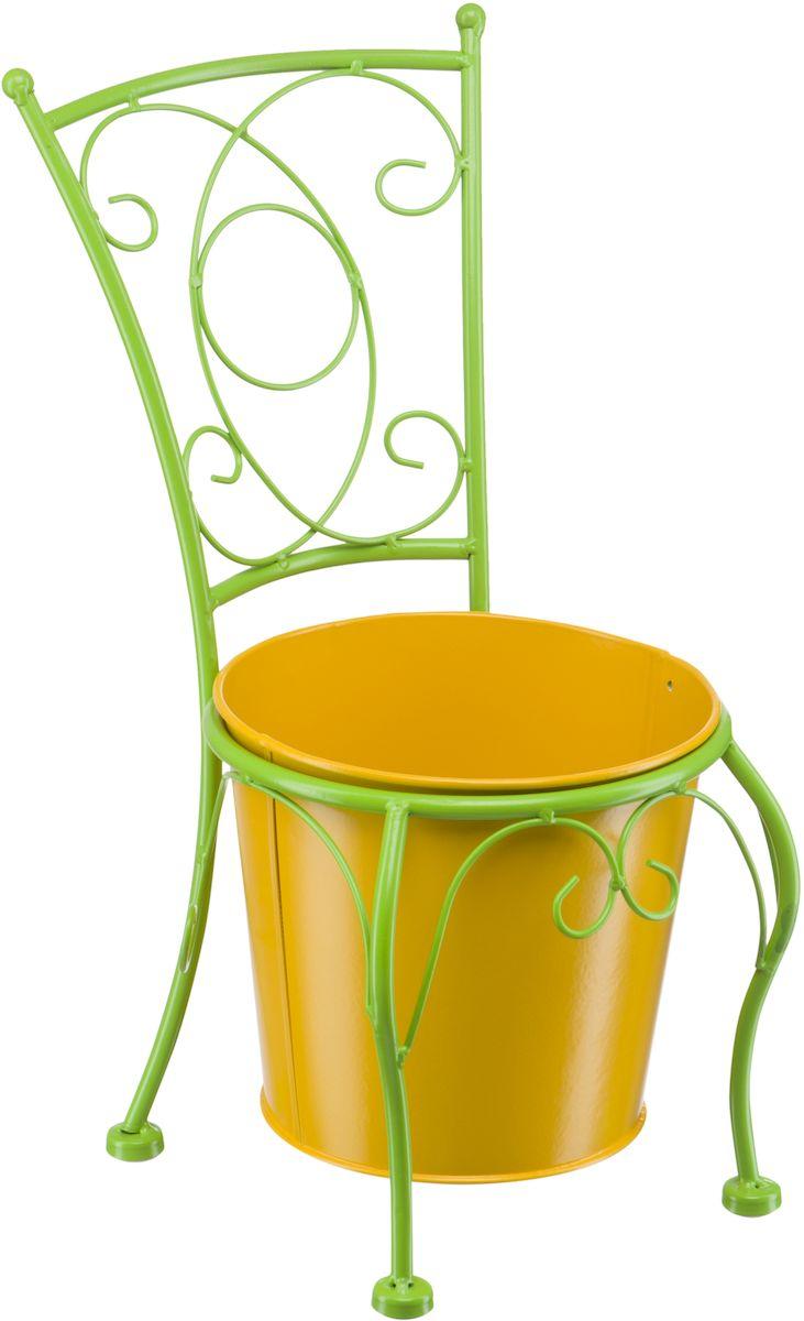 Подцветочница Engard, цвет: зеленый, желтый, 19 х 22,5 х 40,5 см. BT-07BT-07Оригинальная подцветочница Engard выполнена в виде декоративного стула . Яркий и сочный цвет станет заметным элементом любого дизайна. Горшок идет в комплекте. Конструкция подцветочницы и горшок выполнены из металла.