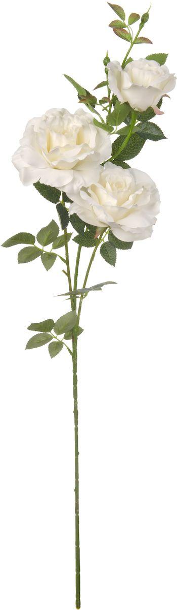Цветы искусственные Engard Ветвь розы, цвет: белый, высота 102 смE4-RKBИскусственные цветы Engard - это популярное дизайнерское решение для создания природного колорита и индивидуальности в интерьере. Изящная ветвь розы белого цвета выглядит довольно реалистично и нежно благодаря бархатному покрытию лепестков.Не требует постоянного ухода. Высота: 102 см.
