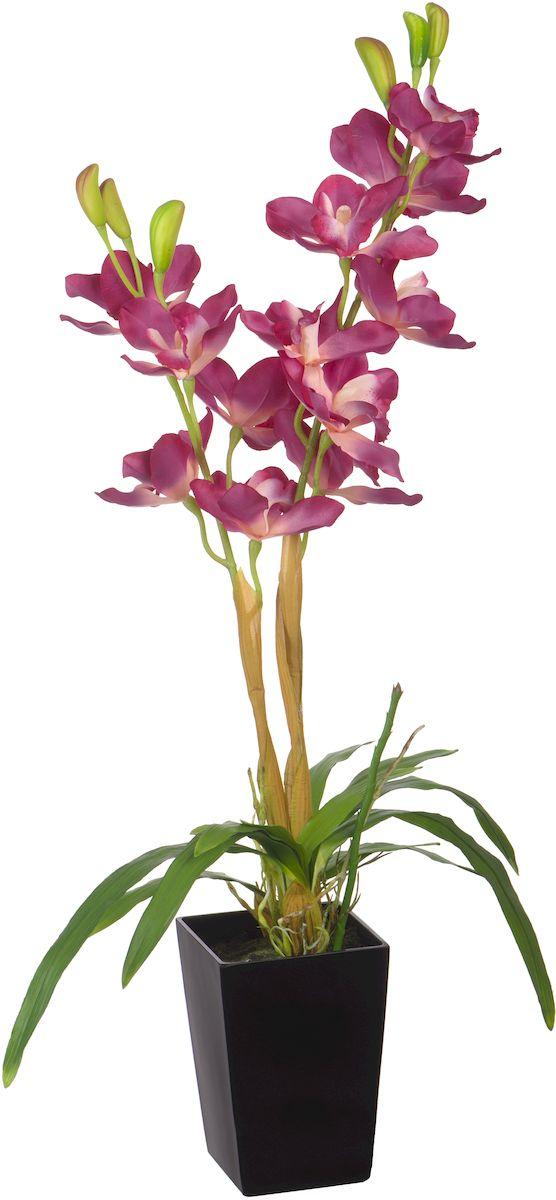 Цветы декоративные Engard Орхидея, в цветочном горшке, 12 х 12 х 80 смYW-34Искусственные цветы Engard - это популярное дизайнерское решение для создания природного колорита и гармонии в пространстве. Яркая малиновая орхидея в пластиковом горшке выполнена из высококачественного материала, передающего неповторимую естественность и является достойной альтернативой живым цветам. Не требует постоянного ухода. Высота: 80 см.
