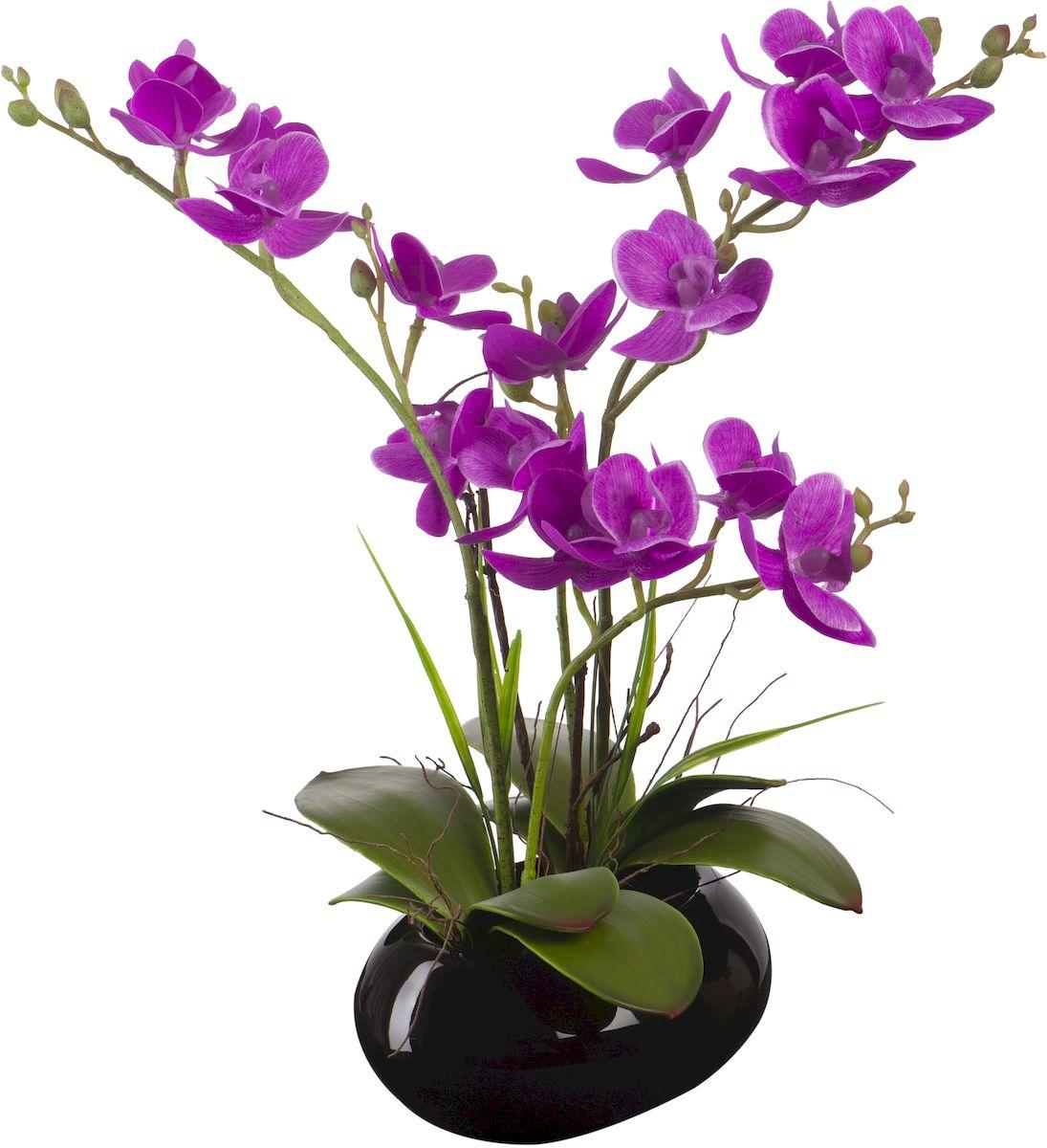 Цветы декоративные Engard Орхидея, в кашпо, 14 х 12 х 34 см кашпо engard цвет желтый 12 5 х 10 х 13 см