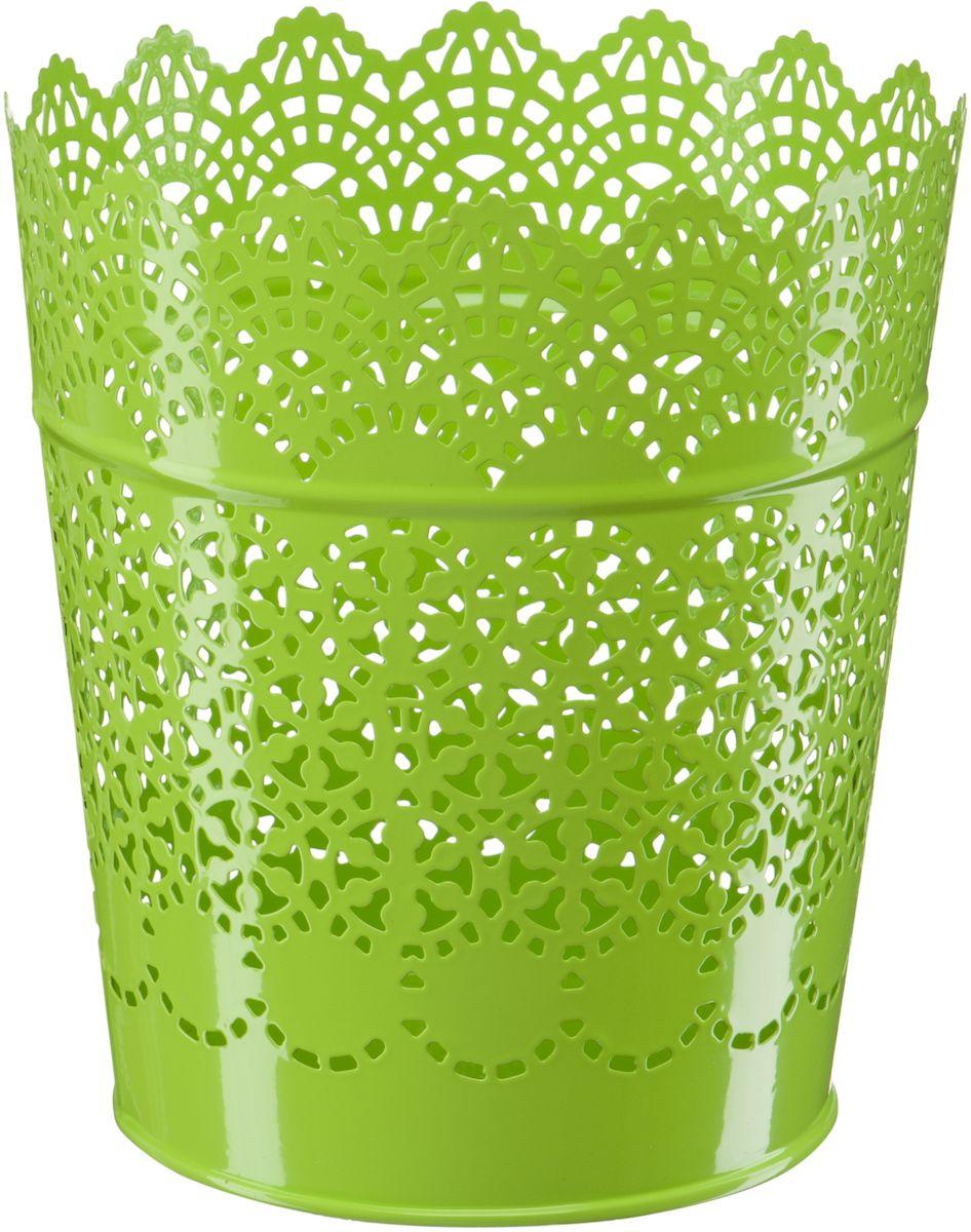 Кашпо Engard, цвет: зеленый, 15,2 х 11,6 х 17 смА064Кашпо Engard, предназначенное для посадки декоративных растений, станет прекрасным украшением для дома. Яркая расцветка привлекает к себе внимание и поднимает настроение. Материал изготовления - металл.