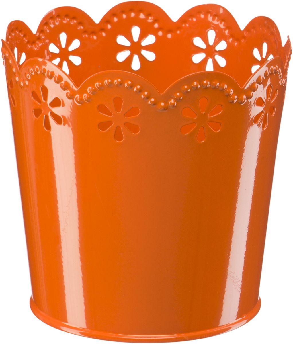 Кашпо Engard, цвет: оранжевый, 12,5 х 10 х 13 смА059Кашпо Engard, предназначенное для посадки декоративных растений, станет прекрасным украшением для дома. Яркая расцветка привлекает к себе внимание и поднимает настроение. Материал изготовления - металл.