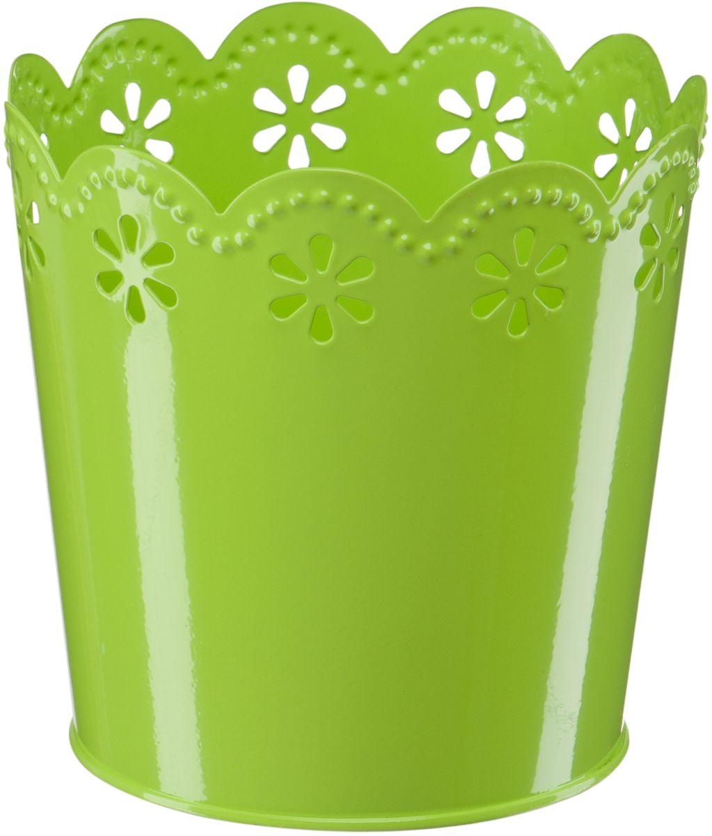 Кашпо Engard, цвет: зеленый, 12,5 х 10 х 13 смА060Кашпо Engard, предназначенное для посадки декоративных растений, станет прекрасным украшением для дома. Яркая расцветка привлекает к себе внимание и поднимает настроение. Материал изготовления - металл.