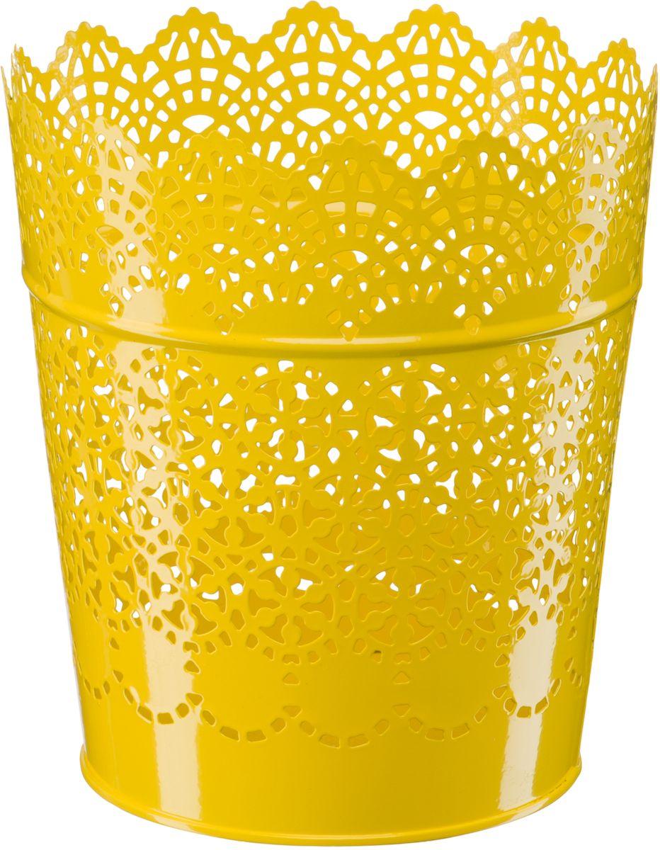 Кашпо Engard, цвет: желтый, 15,2 х 11,6 х 17 смА062Кашпо Engard, предназначенное для посадки декоративных растений, станет прекрасным украшением для дома. Яркая расцветка привлекает к себе внимание и поднимает настроение. Материал изготовления - металл.
