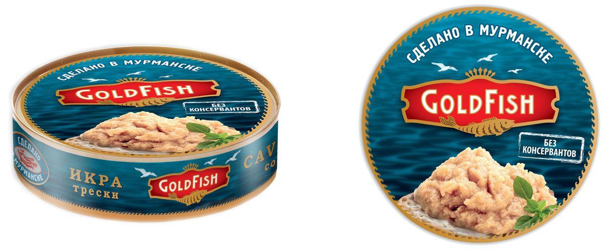 Gold Fish Икра трески натуральная, 200 г икра русский рыбный мир