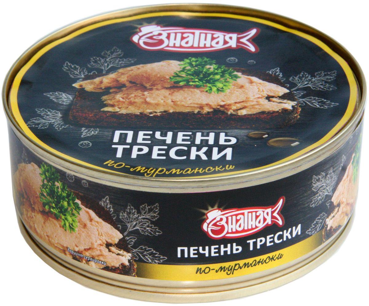 Знатная рыба Печень трески по-мурмански, 190 г setra печень трески натуральная 120 г