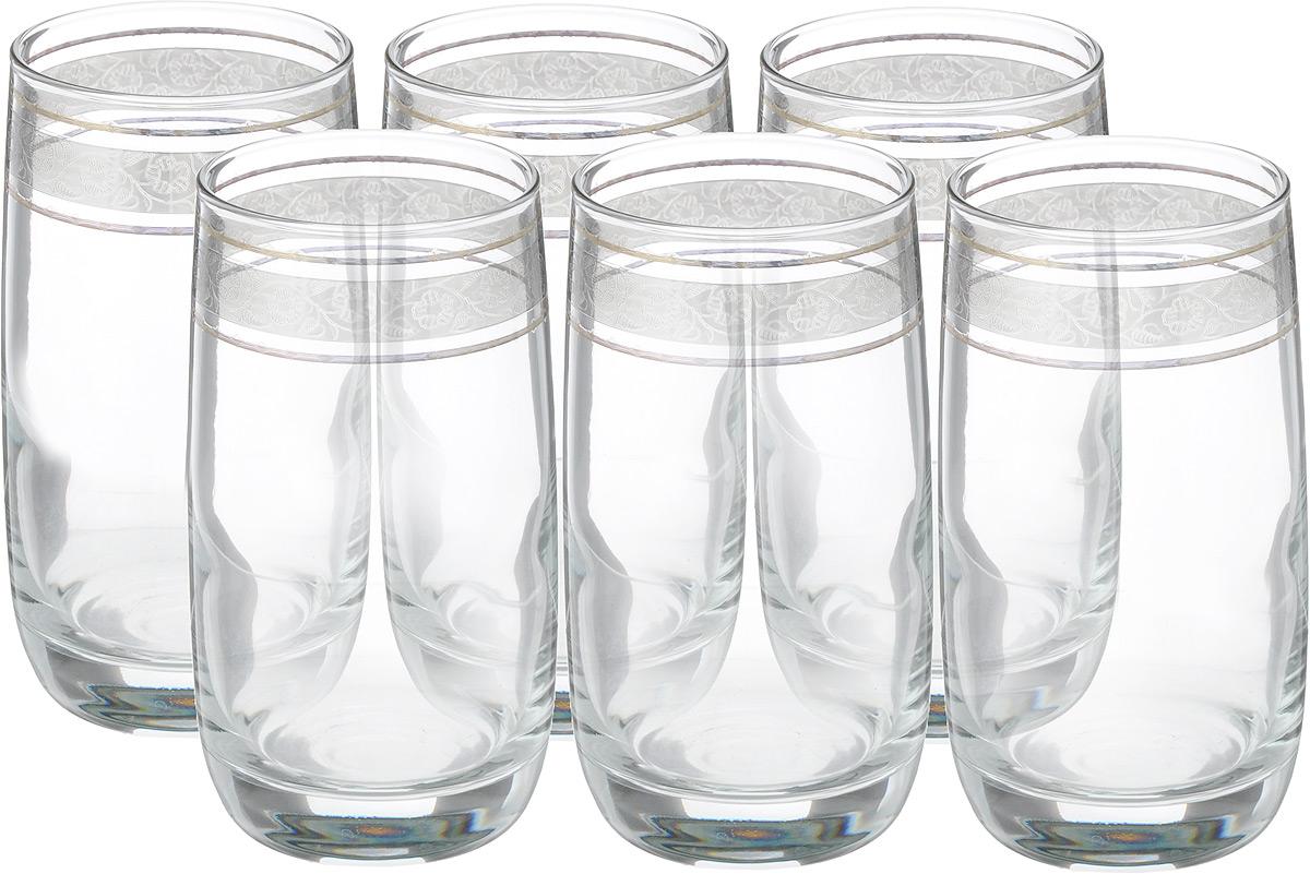 Набор стаканов Гусь Хрустальный Эдем. Флорис, 330 мл, 6 штTL31-809Набор Гусь Хрустальный Эдем. Флорис состоит из шести стаканов, выполненных из прочного натрий-кальций-силикатного стекла. Изделия оформлены декоративным покрытием в виде изящных узоров. Прекрасно подходят для сока, воды, коктейлей и других напитков. Качество изготовления, сверкающий блеск и неповторимый дизайн сделают этот набор незаменимым на вашей кухне.Можно мыть в посудомоечной машине или вручную с использованием моющих средств, не содержащих абразивных материалов.Диаметр стакана (по верхнему краю): 6 см. Высота стакана: 12,5 см.
