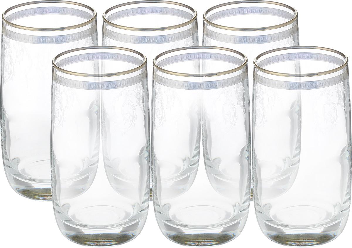 Набор стаканов Гусь Хрустальный Эдем. Каскад, 330 мл, 6 штTL40-809Набор Гусь Хрустальный Эдем. Каскад состоит из шести стаканов, выполненных из прочного натрий-кальций-силикатного стекла. Изделия оформлены декоративным покрытием в виде изящных узоров. Прекрасно подходят для сока, воды, коктейлей и других напитков. Качество изготовления, сверкающий блеск и неповторимый дизайн сделают этот набор незаменимым на вашей кухне.Можно мыть в посудомоечной машине или вручную с использованием моющих средств, не содержащих абразивных материалов.Диаметр стакана (по верхнему краю): 6 см. Высота стакана: 12,5 см.