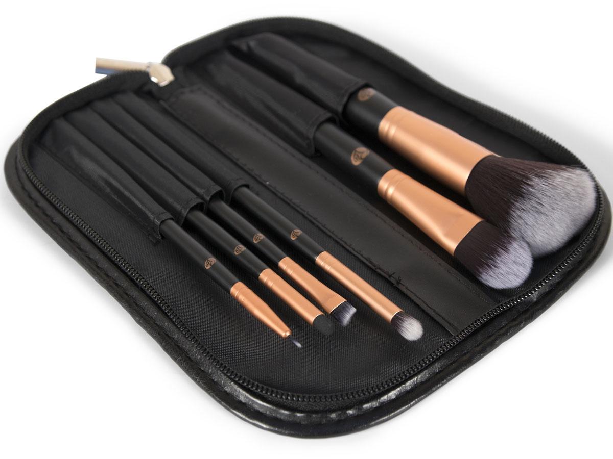 Rio Профессиональный набор кистей для макияжа Brce, 6 предметов + чехол дорожный набор кистей для макияжа