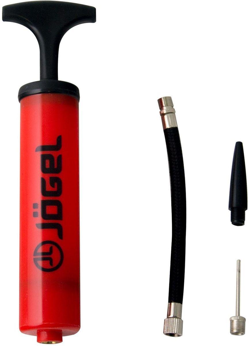 Насос Jogel JA-102, с насадкой для фитбола , цвет: красный, 20 смУТ-00010012Универсальный ручной насос Jogel с Т-образной ручкой. Эффективен при накачке мячей любых типов. Благодаря небольшим габаритам и удобной упаковке, его легко брать собой в поездку.В комплект входит гибкий съемный шланг, стандартная игла и насадка для фитбола.