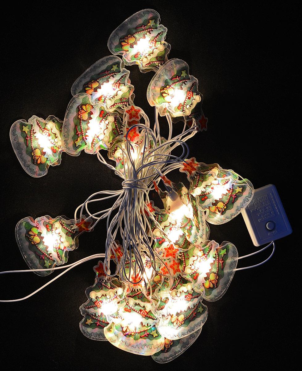 Гирлянда новогодняя Феникс-Презент, электрическая, 16 ламп, 2,5 м35343Новогодняя электрическая гирлянда Феникс-Презент украсит интерьер вашего дома или офиса в преддверии Нового года. Лампы выполнены в виде двух пластиковых пластинок с изображением елочной ветки с игрушками. Между пластинами располагается лампочка. Имеется тумблер переключения режимов мигания огней (8 режимов). Оригинальный дизайн и красочное исполнение создадут праздничное настроение. Откройте для себя удивительный мир сказок и грез. Почувствуйте волшебные минуты ожидания праздника, создайте новогоднее настроение вашим дорогим и близким.Работает от сети 220 В.Длина: 2,5 м. Количество ламп: 16.Напряжение: 220 В. Мощность: 30,7 Вт.