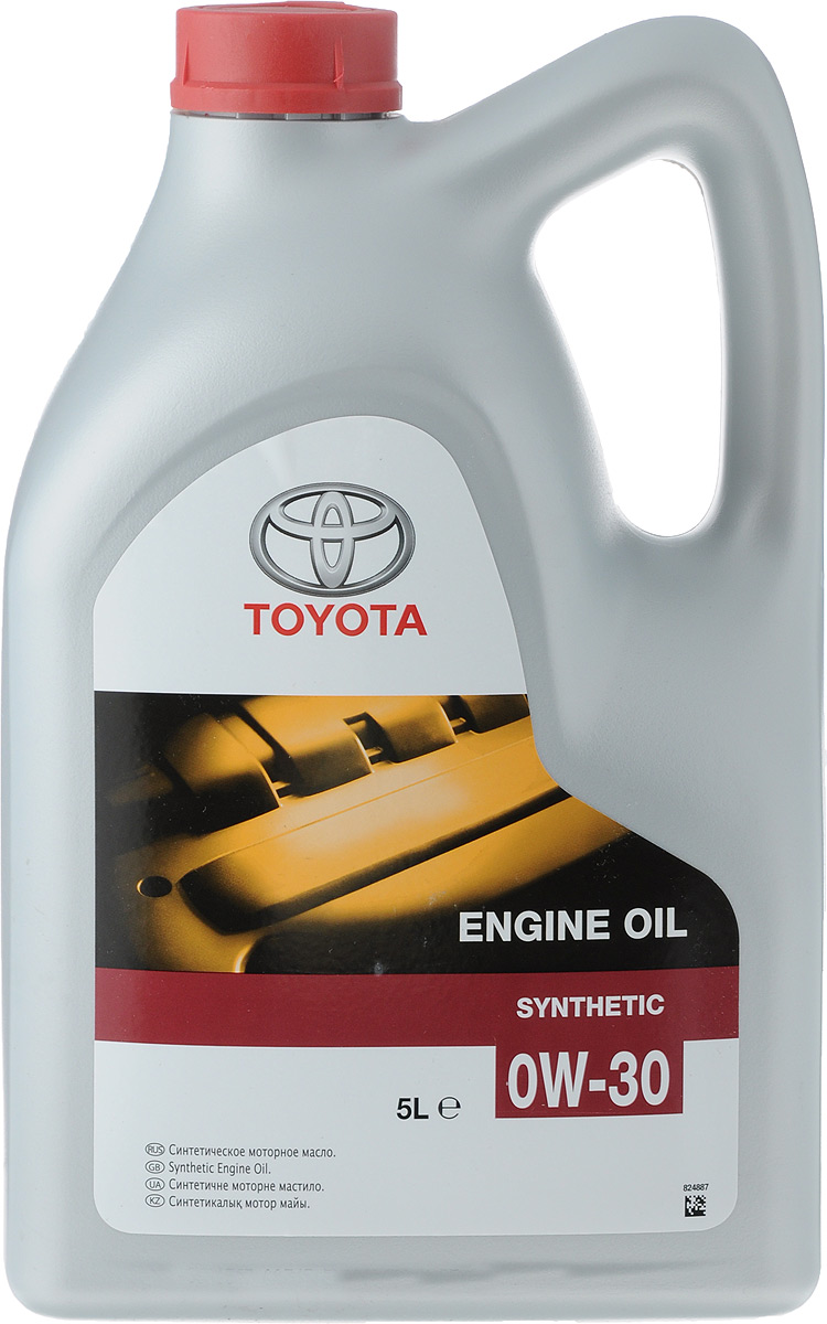 Масло моторное Toyota, синтетическое, класс вязкости 0W-30, 5 л08880-80365GOСинтетическое моторное масло Toyota обладает уникальными характеристиками и соответствует высшему классу по классификации API. Масло является универсальным и прекрасно подходит как для бензиновых, так и для дизельных двигателей, обеспечивая легкий пуск двигателя, идеальную чистоту всех деталей и узлов, наивысшие показатели и максимальный ресурс двигателя.Тип: синтетическое.Объем упаковки: 5 л.Класс вязкости SAE: 0W-30.Класс API: CF, SL. Товар сертифицирован.