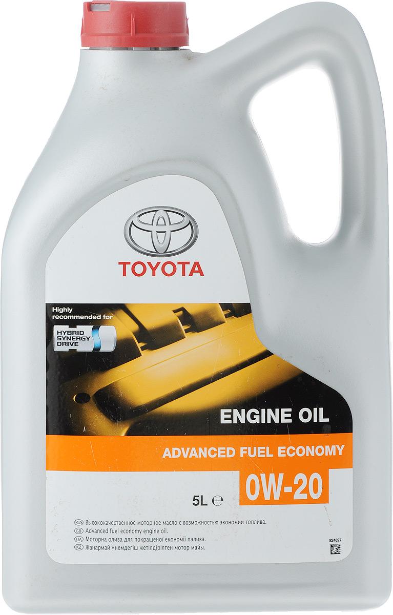 Масло моторное Toyota Advanced Fuel Economy, синтетическое, класс вязкости 0W-20, 5 л08880-83265GOМоторное масло Toyota Advanced Fuel Economy - полностью синтетическое моторное масло для двигателей автомобилей Toyota. Оно обеспечивает значительную экономию топлива благодаря добавлению полиальфаолефинов и специального комплекса присадок. Масло содержит в своем составе высококачественные присадки, гарантирующие превосходные эксплуатационные характеристики.Тип базового масла: синтетическое.Класс вязкости SAЕ: 0W-20.Тип двигателя: бензиновый.Стандарт API: SN.Стандарт ILSAC: GF-5.Объем: 5л. Товар сертифицирован.