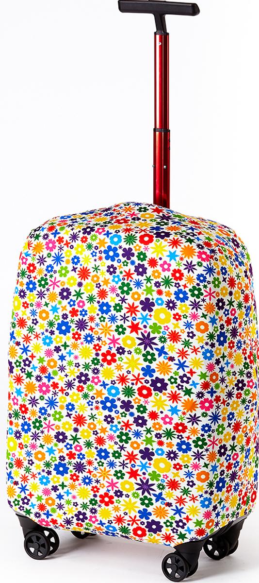 Чехол для чемодана RATEL Цветы. Размер L (высота чемодана: 75-84 см.)