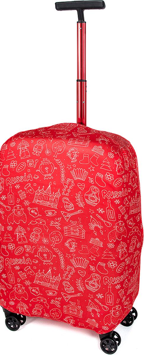 Чехол для Чемодана RATEL Красная Москва. Размер L (высота чемодана: 65-75 см.)