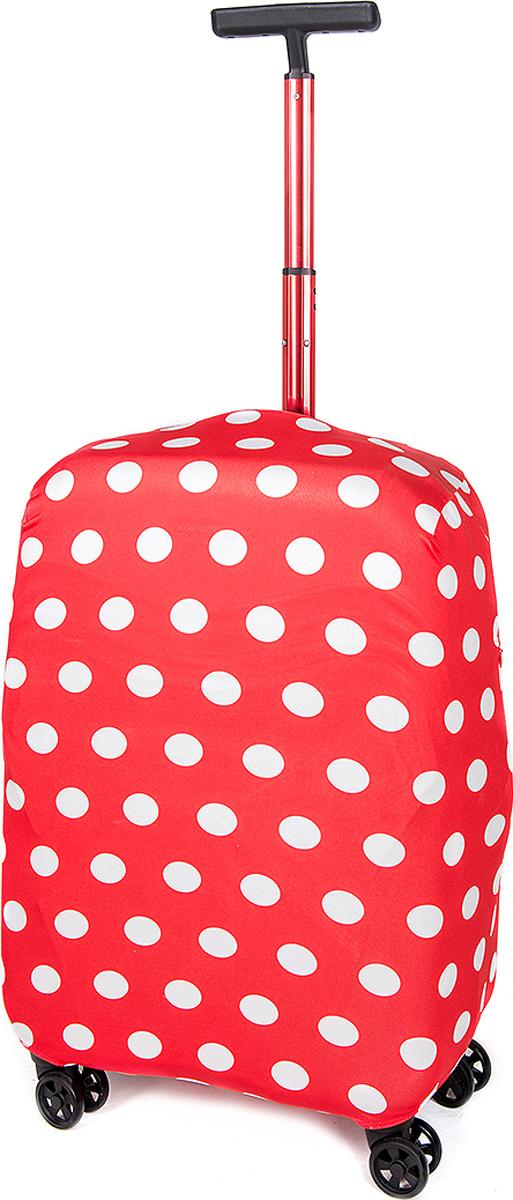 Чехол для чемодана RATEL  Горох красный . Размер L (высота чемодана: 65-75 см.) - Чемоданы и аксессуары