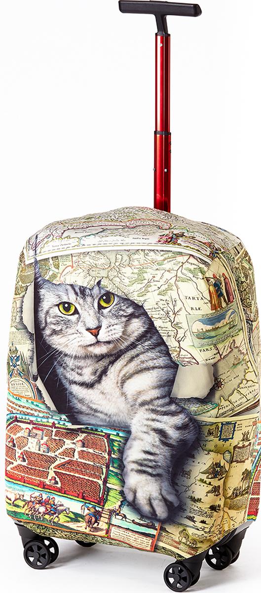 Чехол для чемодана RATEL Кот в мешке. Размер L (высота чемодана: 75-85 см.)