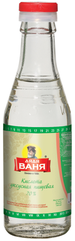 Дядя Ваня кислота уксусная пищевая 70%, 180 г