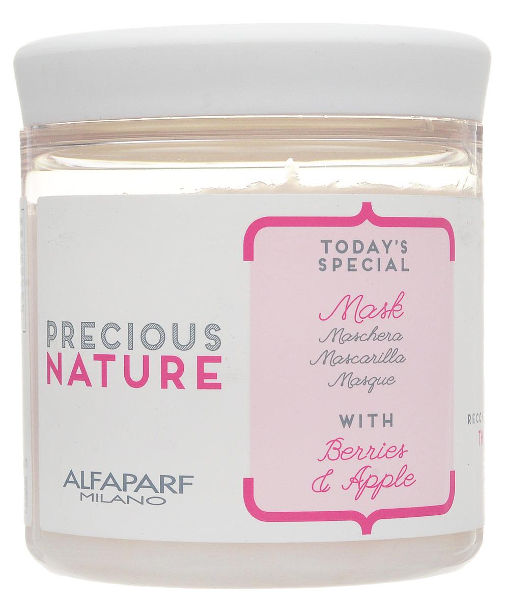 Alfaparf Маска для сухих волос испытывающих жажду Precious Nature Mask for Dry and Thirsty Hair, 200 мл14717Маска интенсивно увлажняет волосы по всей длине, делает их мягкими и шелковистыми. Роскошная крем-гелевая текстура позволяет идеально распутать и смягчить обезвоженные волосы. Входящий в состав экстракт ягод* позволяет защитить волосы от негативного влияния окружающей среды, а экстракт яблока* сохраняет оптимальный гидролипидный баланс, делая волосы гладкимии и блестящими. *100% натуральный ингредиент. НЕ СОДЕРЖИТ сульфатов, парабенов, парафинов, минеральных масел, синтетических веществ, аллергенов*гипоаллергенные экстракты растений и ароматизаторыОбъем: 200 мл