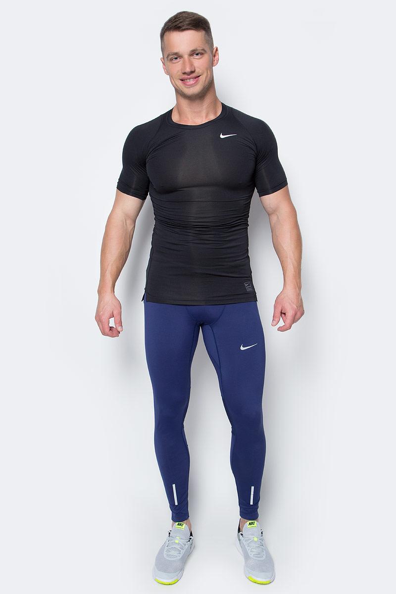 Футболка мужская Nike Cool Comp SS, цвет: черный. 703094-010. Размер XL (52/54)703094-010Мужская футболка Cool Comp SS от Nike изготовлена из ультрамягкой ткани Dri-Fit. Ткань Dri-Fit обеспечивает воздухопроницаемость и комфорт. Модель с круглым вырезом горловины и короткими рукавами-реглан оформлена фирменным логотипом. Спинка модели немного удлинена. Нижняя часть модели по боковым швам дополнена небольшими разрезами.