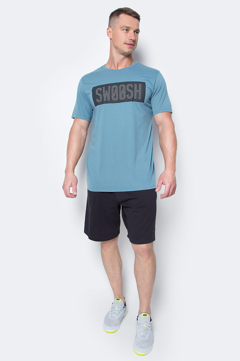 Шорты мужские Nike Nk Short Dri-Fit Cotton, цвет: черный. 842267-010. Размер M (46/48) nike m nk flx short 7in distance