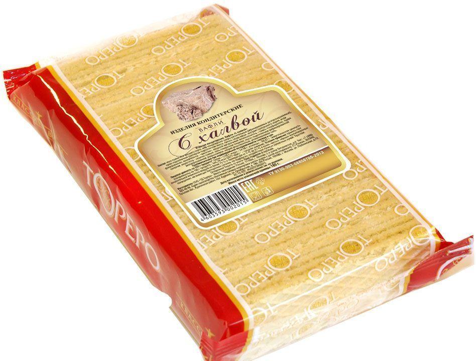 Тореро вафли с халвой, 180 г4603593002015Хрустящие, ароматные вафли прекрасно сочетаются с чаем или кофе.