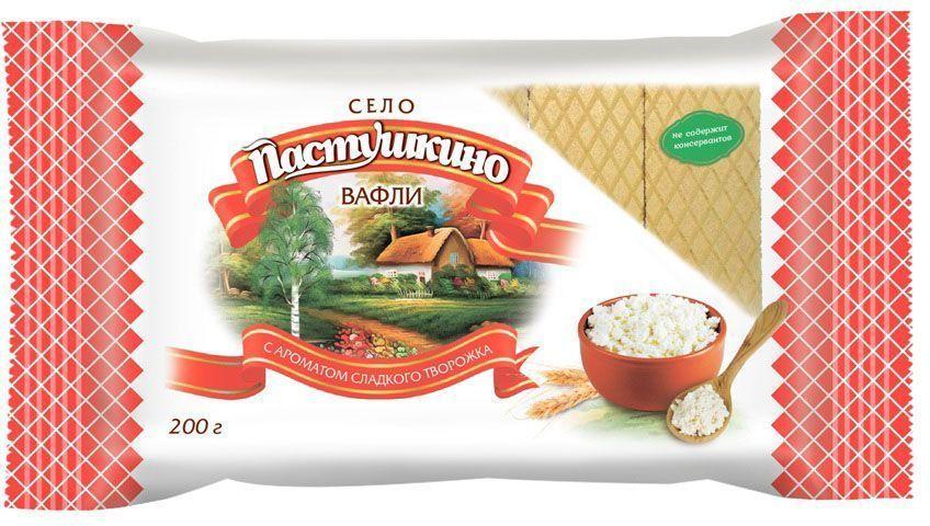 Село Пастушкино вафли с ароматом сладкого творожка, 200 г