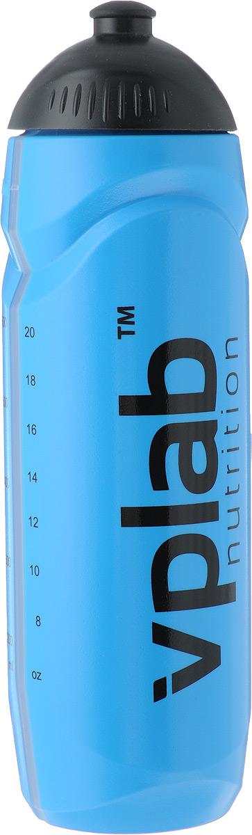 Бутылка спортивная VP Laboratory, цвет: синий, 0,75 лSSB0243Бутылка VP Laboratory изготовлена из качественного пластика. Изделие предназначено для использования во время езды на велосипеде, либо занятий спортом. Благодаря специальной насадке вы не прольете ни капли мимо. Изделие снабжено отметками литража.