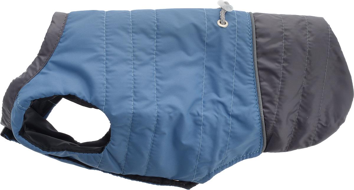 Попона для собак Yoriki, унисекс. Размер 24. 455-24455-24Попона для собак Yoriki отлично подойдет для прогулок в холодное время года. Попона изготовлена из водоотталкивающего полиэстера, защищающего от ветра и осадков. Утеплитель из вискозы сохранит тепло и обеспечит уют во время зимних прогулок.Попона не имеет рукавов, поэтому не ограничивает свободу движений, и собака будет чувствовать себя в ней комфортно. На животе имеются застежки-кнопки, а спинка дополнена утягивающим шнурком. Светоотражающие элементы обеспечивают безопасность в темное время суток.Благодаря такой попоне питомцу будет тепло и комфортно в холодное время года.Длина спины: 24-26 см.Одежда для собак: нужна ли она и как её выбрать. Статья OZON Гид