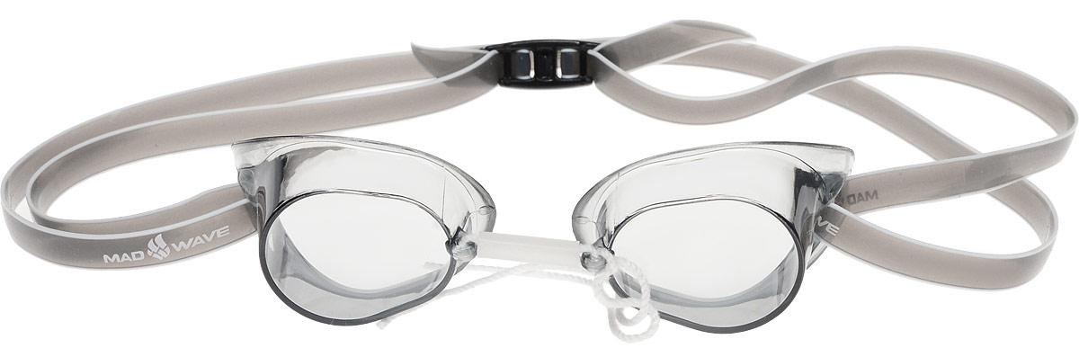 Очки для плавания стартовые MadWave Racer SW, цвет: серыйM0455 03 0 17WКлассические стартовые очки MadWave Racer SW. Двойной силиконовый ремешок с затылочной клипсой для надёжной фиксации очков. Линзы из поликарбоната без обтюратора. Антизапотевающие стекла. Защита от ультрафиолетовых лучей. Настраиваемая индивидуально трубчатая переносица позволяет собрать очки под любой тип лица. Характеристики:Цвет: серый. Материал: поликарбонат, силикон. Размер наглазника: 6 см х 3,5 см. Изготовитель: Китай. Размер упаковки: 11 см х 9 см х 4 см.