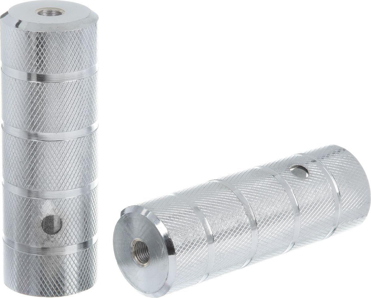 Пеги для BMX STG, диаметр 3,8 см, длина 11 см, 2 шт. Х73988Х73988Пеги для BMX STG, выполненные из алюминия, предназначены исключительно для трюков и крепятся на крепкие стальные болты, так как должны выдерживать вес не только велосипедиста, который может опираться на пегу во время выполнения трюка, но и еще и массу самого велосипеда.