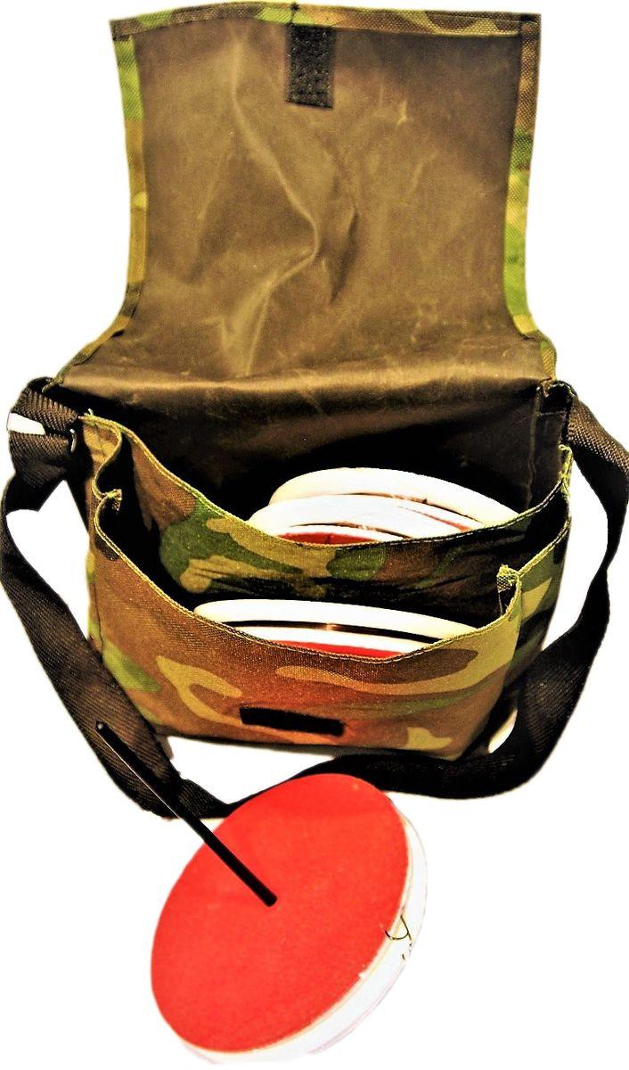 Кружок рыболовный Аляска, оснащенный, 5 штН-2145141Рыболовный кружок Аляска - готовая к использованию снасть. Используется при ловле хищника на живца. Так же, снасть называют летней жерлицей. В комплекте 5 кружков, упакованных в транспортировочную сумку. Характеристики: Диаметр кружка: 150 мм.Толщина кружка: 20 мм.Леска: 15 м.Диаметр: 0,35-0,45.Поводок: 1 х 7 в оплетке 25 см.Груз скользящий: 10 г.Крючок: двойник размер #2.