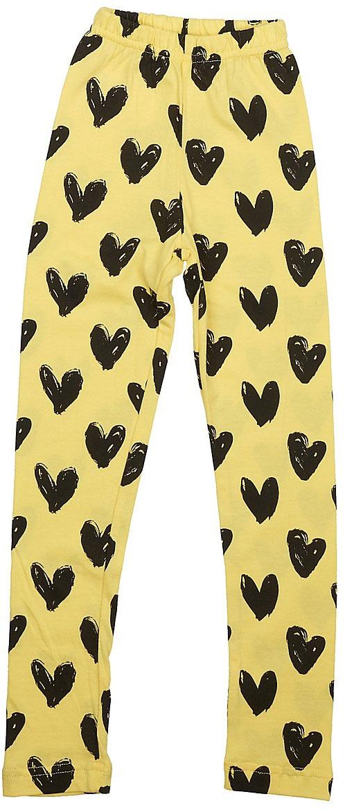 Леггинсы для девочки LeadGen, цвет: желтый. G620051115-171. Размер 98G620051115-171Леггинсы для девочки LeadGen выполнены из хлопкового трикотажа. Модель на талии дополнена эластичной резинкой.