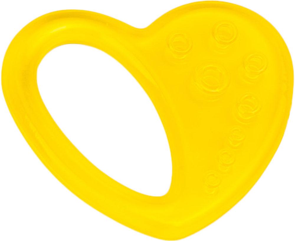 Canpol Babies Прорезыватель охлаждающий Сердце цвет желтый canpol babies прорезыватель водный охлаждающий яблочко 0 fruits canpol babies желтый