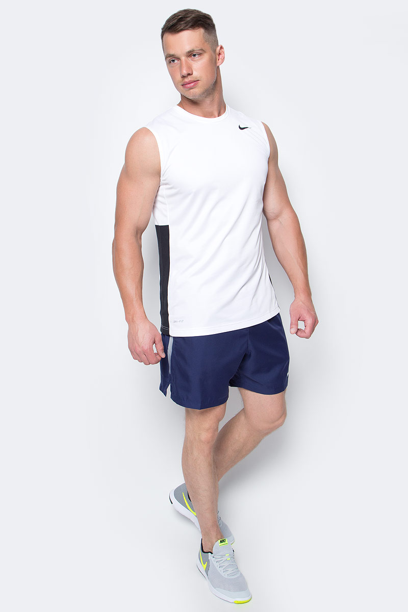 Шорты мужские Nike Court Dry Tennis Short, цвет: темно-синий. 830817-410. Размер S (44/46) шорты мужские nike hbr short цвет белый 718830 100 размер s 44 46