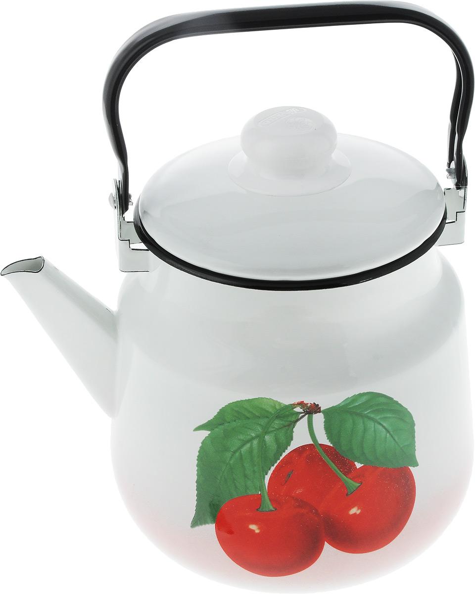 Чайник Эмаль  Вишня , 3,5 л. 01-2713/6 - Посуда для приготовления