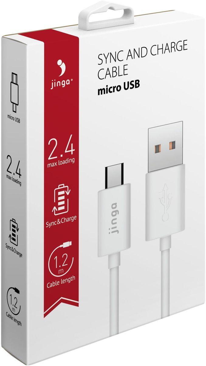 Jinga JinCABMCUSB12WH, White кабель USB-micro USB (1,2 м)JinCABMCUSB12WHКабель Jinga USB-micro USB 1.2м (белый)С помощью кабеля Jinga USB-microUSB можно подключить мобильное устройство к компьютеру или ноутбуку, чтобы пополнить запас энергии в его батарее или передать файлы. Также он подходит для использования с зарядными устройствами. Кабель оборудован коннекторами USB и microUSB, что делает его совместимым с большинством смартфонов, планшетов, плееров, электронных книг. Его длина составляет 1,2 м, благодаря этому владелец легко может разместить подключенное устройство там, где ему удобно. Кабелем можно пользоваться дома, в офисе, во время поездок.