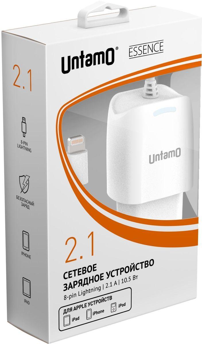 Untamo UESW8P1.0WH, White сетевое зарядное устройствоUESW8P1.0WHСетевое зарядное устройство Untamo с8PIN Lightning Essence предназначено для питания и зарядки аккумуляторной батареи устройств Apple. Оно не чувствительно к перепадам напряжения в сети, благодаря чему его использование абсолютно безопасно для батареи.