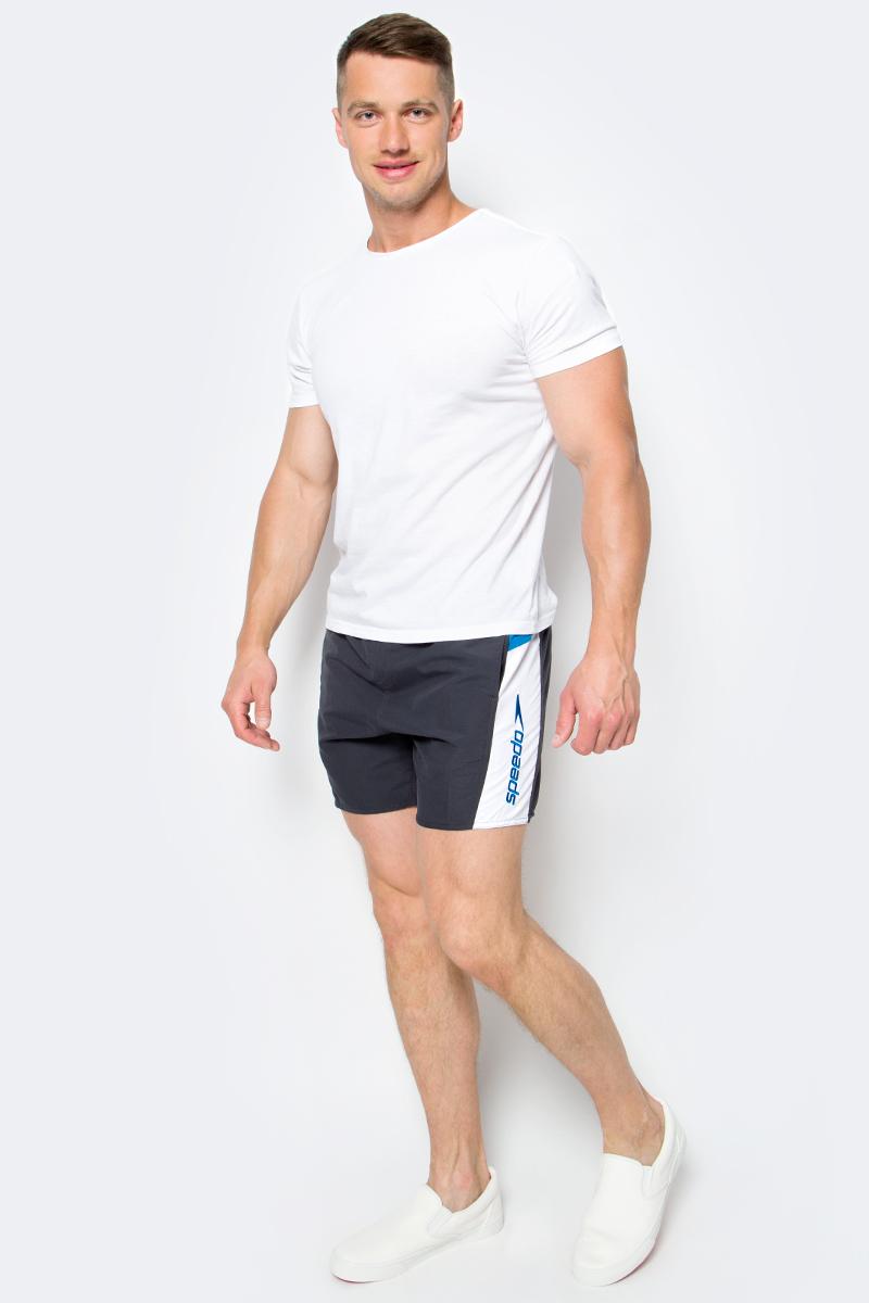 Шорты для плавания мужские Speedo Sport SPL 16 Watershort, цвет: серый. 8-09265B470-B470. Размер S (46/48)8-09265B470-B470Мужские шорты для плавания Speedo Sport Splice 16 Watershort изготовлены из быстросохнущего материала. Легкая и прочная ткань со специальной обработкой позволяет шортам быстро высыхать после намокания, не сковывает свободу движений. Материал с бархатистым эффектом имеет приятные тактильные свойства. Сетчатая несъемная вставка в виде трусов-слипов обеспечивает необходимую циркуляцию воздуха. Эластичный пояс с затягивающимся шнурком позволяет отрегулировать посадку точно по фигуре. Спереди расположены два прорезных кармана с системой слива воды, подкладка которых выполнена из сетки. Изделие оформлено контрастными вставками, украшено вышитым название бренда. Такие шорты - идеальный выбор для отдыха, купания и активных игр на пляже. В них вы всегда будете чувствовать себя уверенно и комфортно!