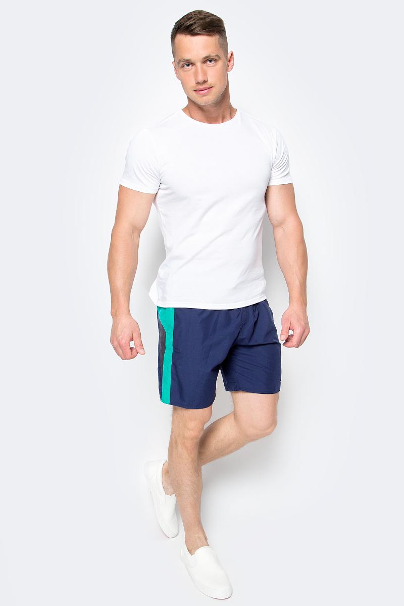 Шорты для плавания мужские Speedo Logo Yoke Splice 18 Watershort, цвет: темно-синий. 8-09681B466-B466. Размер S (46/48)