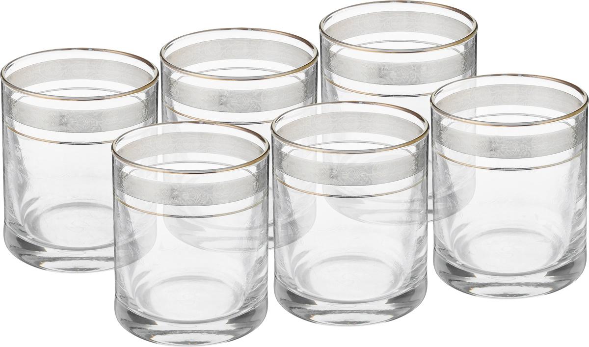 Набор стаканов для виски Гусь Хрустальный Нежность, 300 мл, 6 шт. TL34-405 набор бокалов для бренди гусь хрустальный нежность 410 мл 6 шт