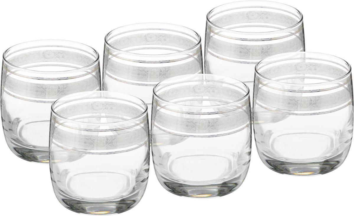Набор стаканов для виски Гусь Хрустальный Эдем. Флорис, 6 шт набор бокалов для бренди гусь хрустальный эдем каскад