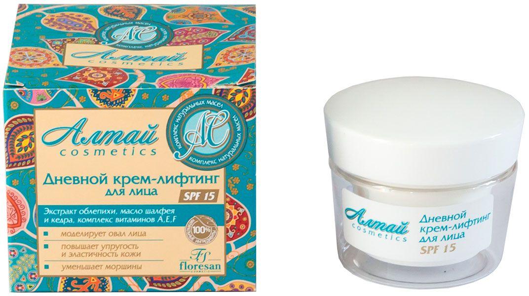 Floresan Алтай Cosmetics Дневной крем-лифтинг для лица SPF 15, 50 мл крем bodyton крем для лица дневной 30 мл